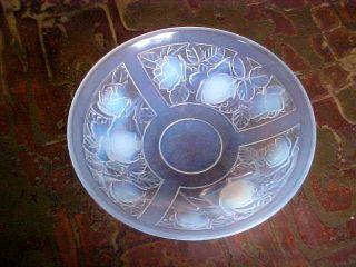 Art Deco Grosse Schale Opalin - Glas Dekor Rosen Wohl Frankreich Bild