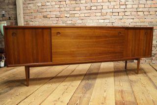 60er Nussbaum Sideboard Anrichte Kommode Credenza Cabinet Danish Modern Design 2 Bild