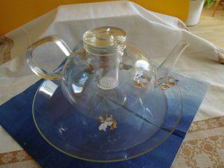 Wagenfeld,  Teekanne,  Tablett,  Jenaer Glas Schott & Gen.  1,  5 Liter Bild