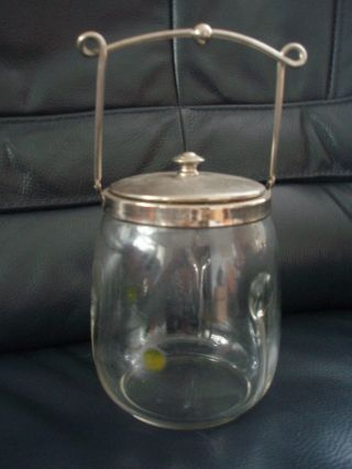 Antike Jugendstil Keksdose Wohl Lötz Glas Oder Poschinger Glas Bild