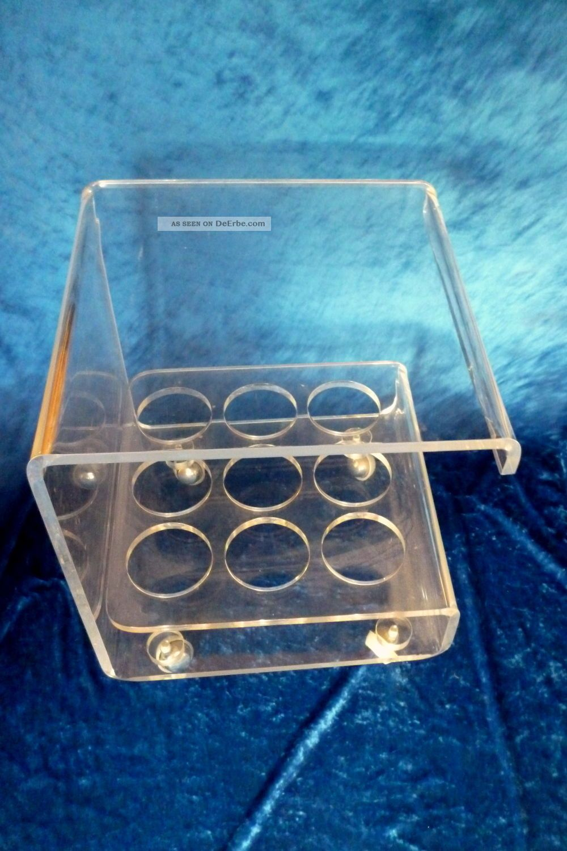Kultiger vintage acrylglas plexi glas acryl beistell tisch for Acrylglas tisch