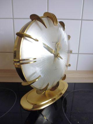 50er Design Tischuhr - Europa - - Seltenes Modell - Messing Bild