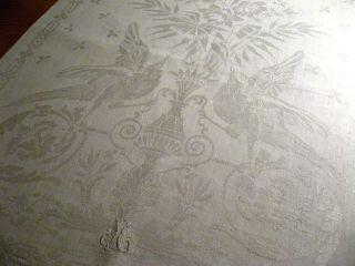 Leinen Handtuch Floral Mit Vogelmotiv Bild