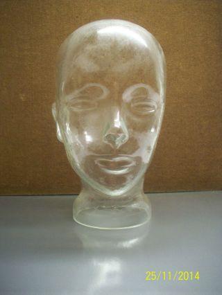 Glaskopf Glas Kopf Halter Vintage Ständer Stil Design Dekoration Deko Perücke Bild