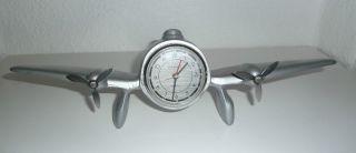 Flugzeug - Uhr Art Deco Design Uhr Sarsaparilla Aluminium Chrom Bild
