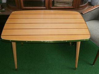 50er 60er Jahre Tisch Table Couchtisch Intarsien Mid Century Nierentisch Ära Bild