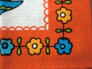70s 3 X Geschirrtuch Küchentuch Kitchen Towel Graziela Prilblumen Stoff Fabric Bild