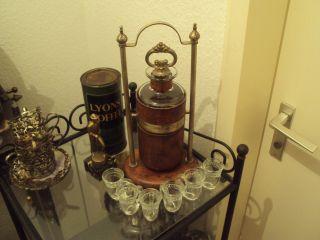 Jugendstil Art Deco Cocktail Shaker Silbern Whiskykaraffe,  Gläser Whisky Alt Bild