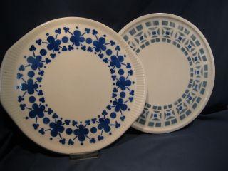 2 X Kuchenplatte Aus Keramik Spritzdekor 30er/50er Jahre Bild