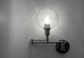 Kugel Bubbel Gelenkleuchte Scherenleuchte Edelstahl Klapparm Im 70er Stil Lampe Bild