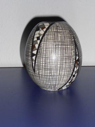 Seltene Vase 50 Jahre Villeroy & Boch Mettlach Maria Köhler Filigran - Mosaik Bild
