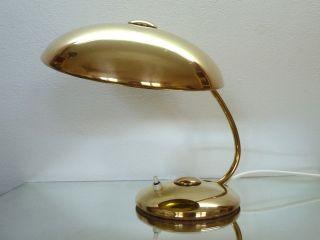 Edle Helo Schreibtischlampe 50er Messing Pur Alte Leuchte Lampe Bild