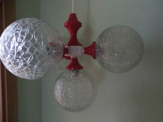 Kugelleuchte Glaskugel ° Space Age ° 70er Lampe Bild