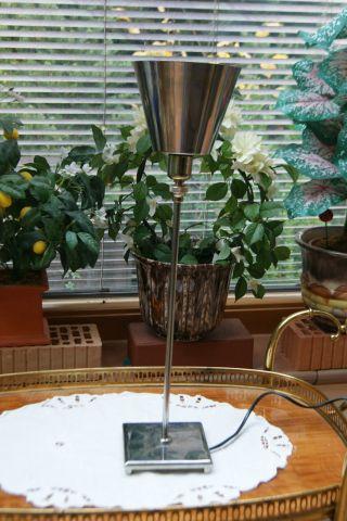 ältere Tischleuchte,  Verstellbar - Chrom - Edelstahl Bild