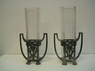 Paar Wmf Straußenmarke Jugendstil Vasen Bild