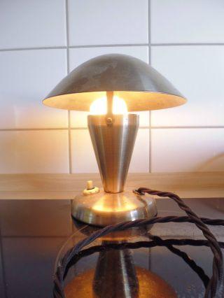 Artdeco - Tischlampe - - Bauhaus - - Deutscher Hersteller - Poliertes Metall - Org - 20er Bild