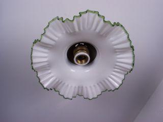 Jugendstil - Deckenlampe Mit Messing Baldachin Bild
