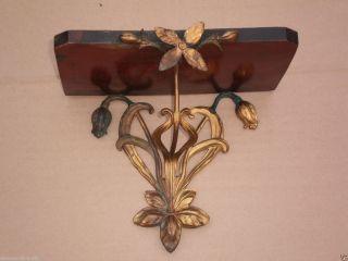 Antikes Filigranes Jugendstil Wandregal Konsole Blume Ornament Feuervergoldet Bild