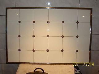 Gr Alter Fliesenspiegel 24 Fliesen,  Kachelwand Küchenhexe,  Stangenherd Bild