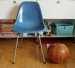 Taubenblau Eames Stuhl - Fiberglas Herman Miller Vitra 60s - Sidechair Bild