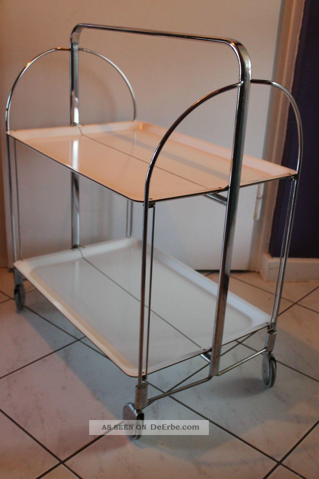 trolley rollwagen dinett servierwagen teewagen 60er jahre wei design klassiker. Black Bedroom Furniture Sets. Home Design Ideas