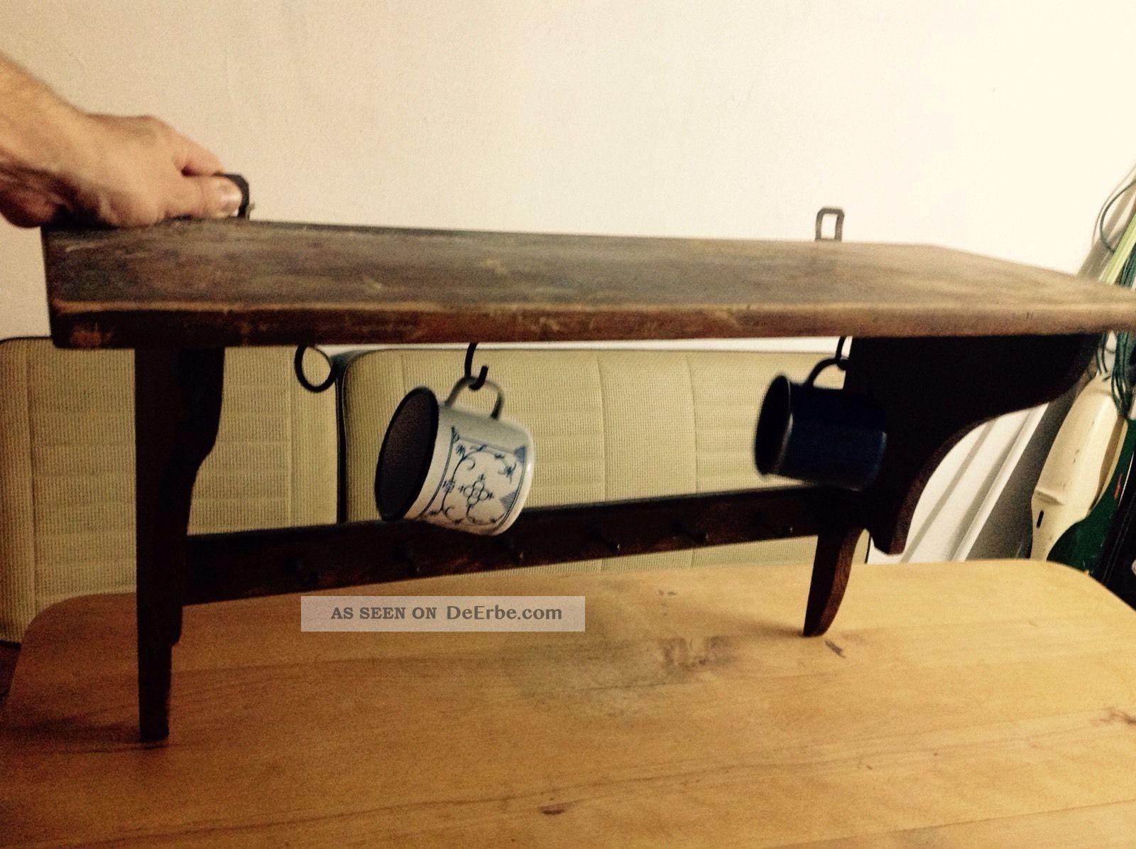 Regal k chenregal board bord jugendstil 50er art deco for Garderobe 30er jahre