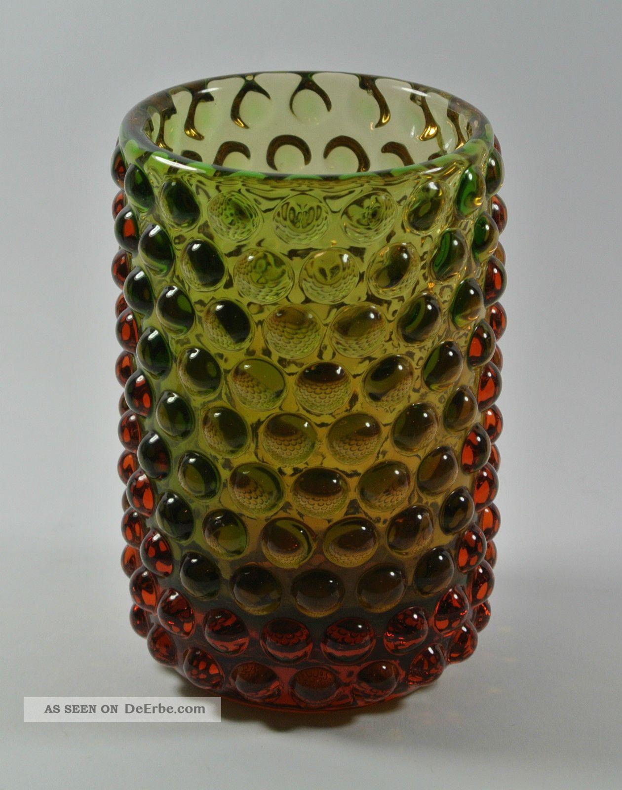 60s Wmf Vase Noppenvase Design: Erich Jachmann | Vintage Wmf Bubble Glass Vase Sammlerglas Bild
