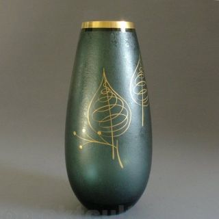 50s Glas Vase By Füger & Taube Vase Golddekor Gio Ponti Fornasetti Era 1950er Bild