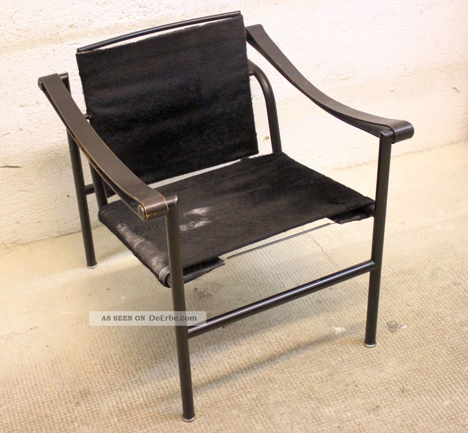 le corbusier sessel lc1 2 mit rechnung von 1976. Black Bedroom Furniture Sets. Home Design Ideas