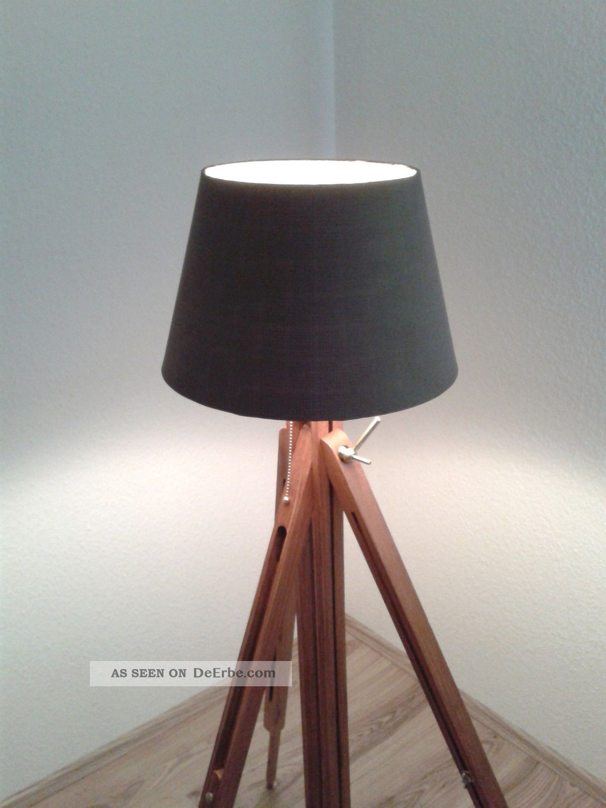 design lampe stehlampe bauhaus tripod lamp kugel architekt shabby chic holz. Black Bedroom Furniture Sets. Home Design Ideas