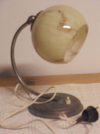 Nachttischlampe - Leselampe - Art Deko - Originalzustand Bild
