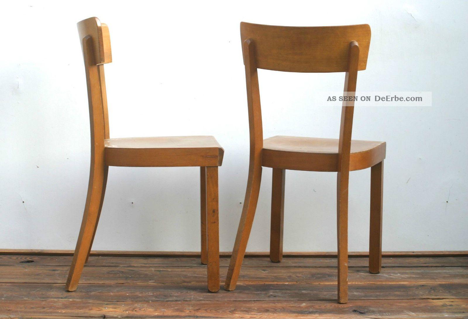 Paar Art Deco Bauhaus Kuchenstuhle Frankfurter Stuhl Spahn