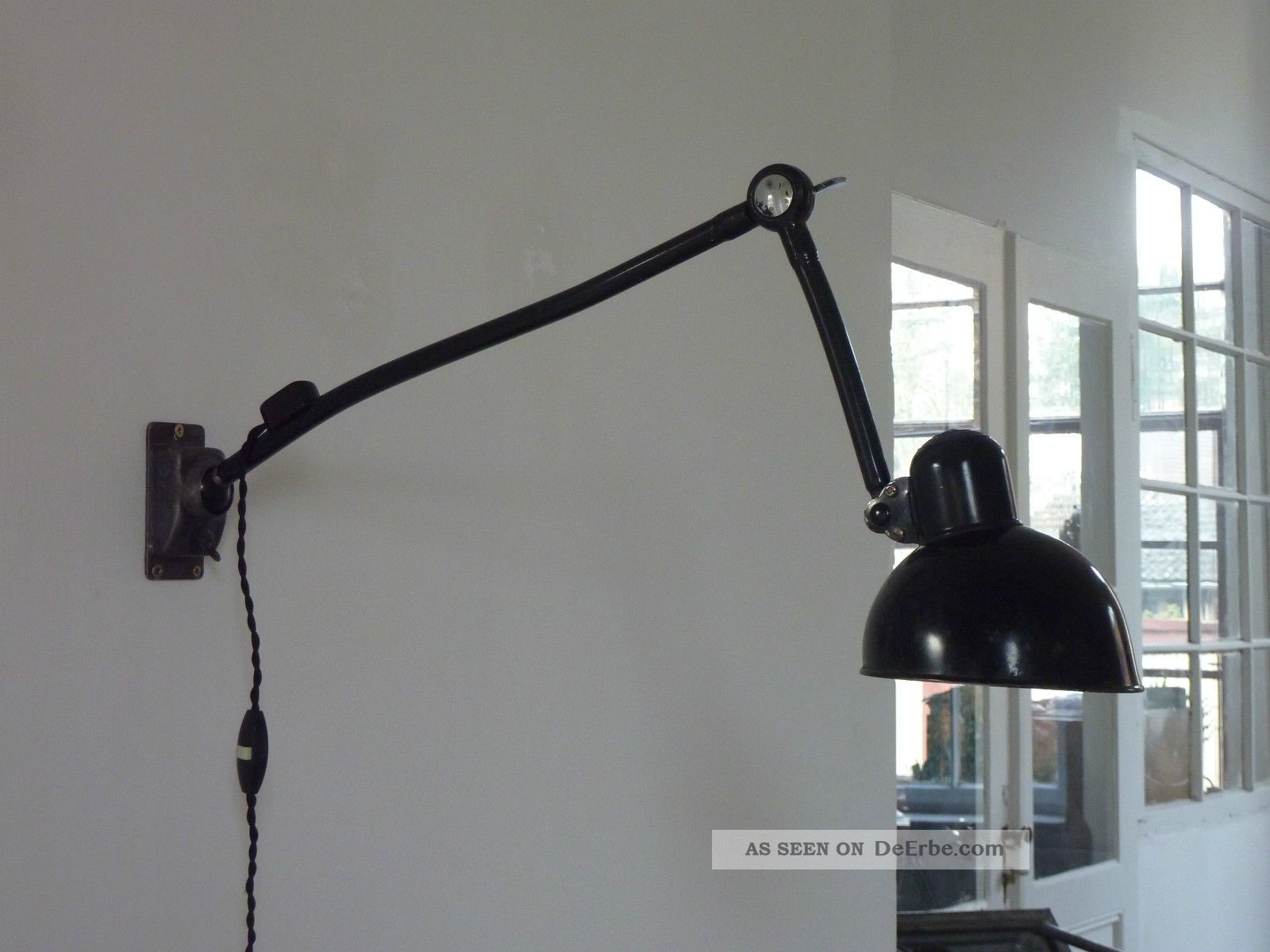 kaiser idell wandlampe vintage industrie design werkstattlampe lampe. Black Bedroom Furniture Sets. Home Design Ideas
