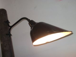 Fabriklampe Oval Lbl Hofleuchte Mast Leuchte Emaille Alte Wandhalterung Bahnhof Bild