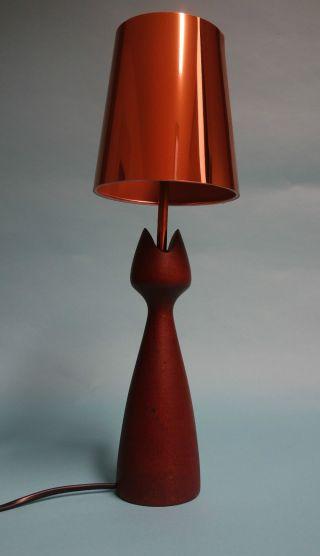 Originelle Künstler Teakholz Tisch Lampe Aus Den 60er Jahren Mid Century