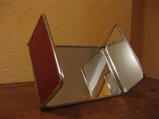 Alter Klappspiegel Schminkspiegel Tischspiegel Spiegel 50er Vintage Rockabilly Bild