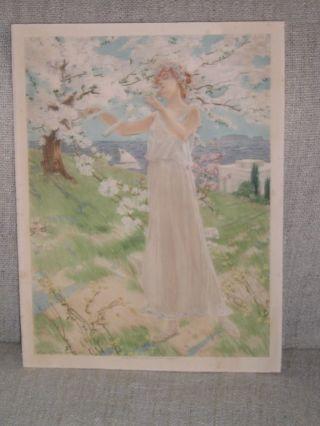 SchÖnes Lithografie Aus 1900 Datiert Manzi Joyant &co Bild