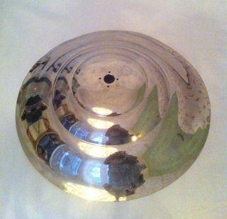 Petitot Fluter Schirm Für Eine Art Deco Stehlampe Aus Vernickeltem Metall Bild