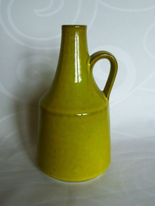 Van Daalen Vase 1001 Keramik 60er Gelb Grün Henkelvase H 19 Cm Bild