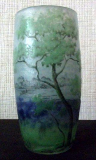 Vase Mit Flusslandschaft Daum Freres Nancy Ca.  1905 Bild