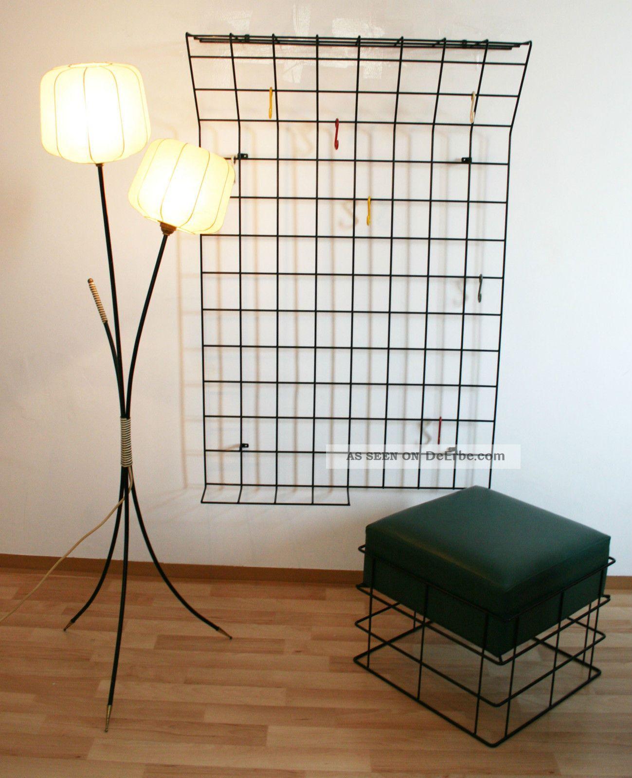 50er 60er mid century garderobe draht wire panton for Garderobe 60er design