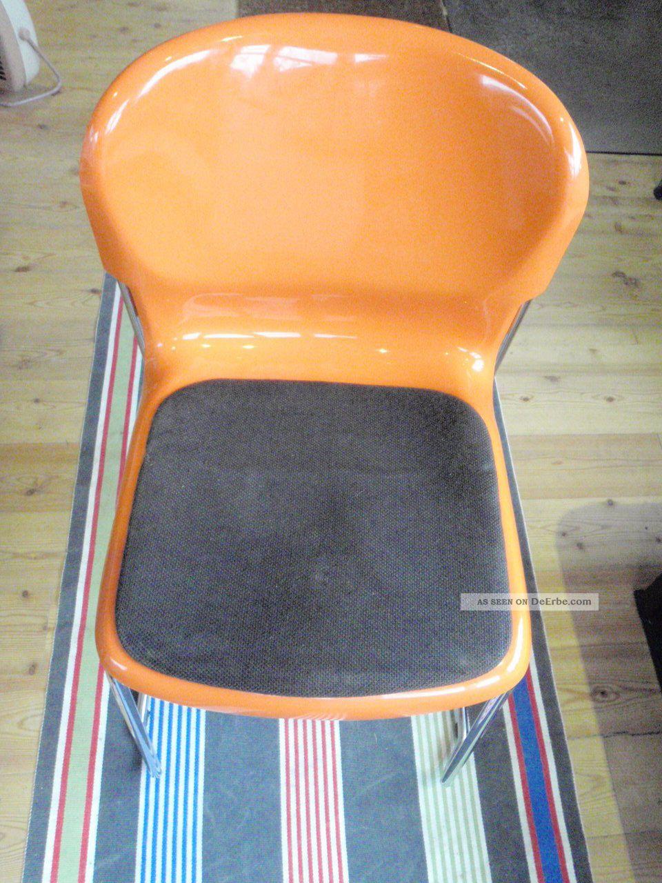 Stuhl Gerd Lange Design 70er Orange Stühle Stapelbar Swing