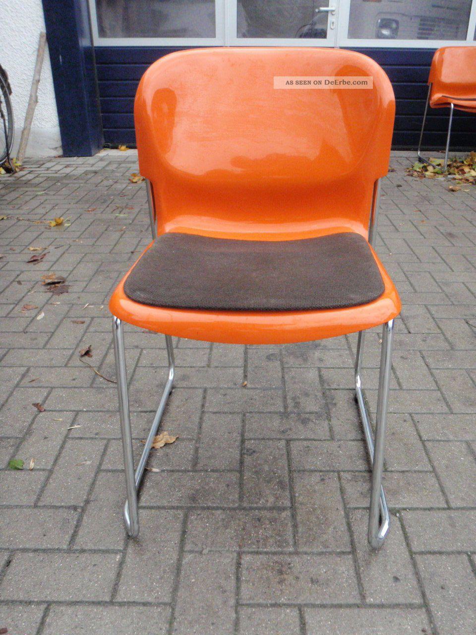 stuhl gerd lange design 70er orange st hle stapelbar swing drabert sm 400 2st ck. Black Bedroom Furniture Sets. Home Design Ideas