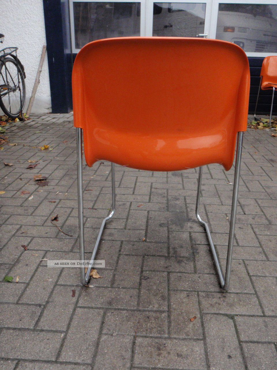 stuhl gerd lange design 70er orange st hle stapelbar swing
