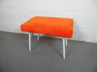 Meyer Hocker Tritt Trittleiter 60er 60`s 70er 70`s Orange Design Entwurf Bild