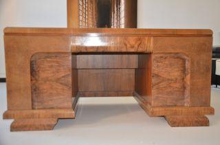 Art Deco Schreibtisch Chefschreibtisch Nussbaum Frei Stellbar Schöner Entwurf Dw Bild