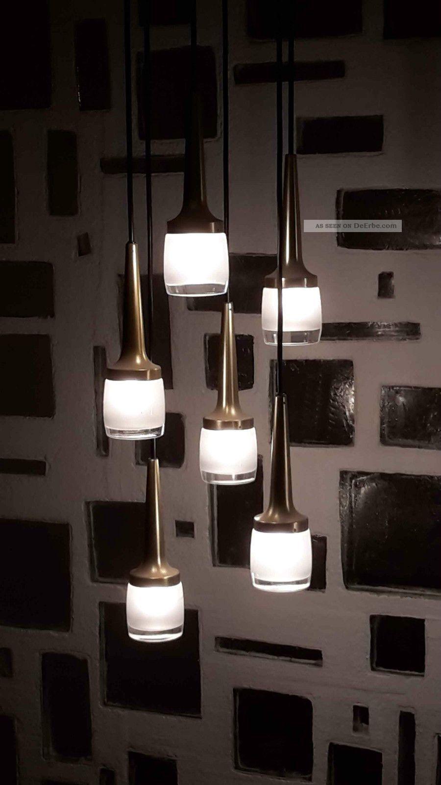 rar 6er designer orig 70er jahre staff kaskadenlampe p114 tulip h ngelampe. Black Bedroom Furniture Sets. Home Design Ideas