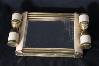 Elegantes Art Deco Tablett - Mit Spiegel - Bauhaus Bild
