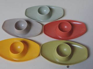 Valon - Geschirr,  5 Eierbecher,  Plastik,  Plastikeierbecher,  60er - 70er Jahre Bild