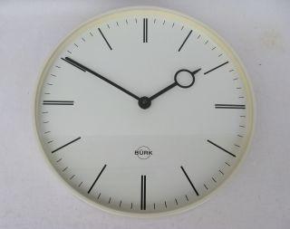 Bürk Art Deco Bauhaus / 50er Uhr Wanduhr Hallenuhr,  Metallgehäuse,  Sehr Guter Zu Bild